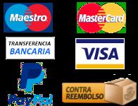 Métodos de pago aceptados en la tienda
